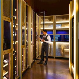 Wine cellar and dry-aging cabinet