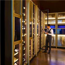 Wine cellar and dry aging cabinets